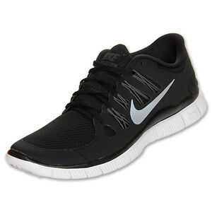Nike Free 5.0 Womens Size Running Shoes Black White Silver Sneakers ... 0ad0cbdbf