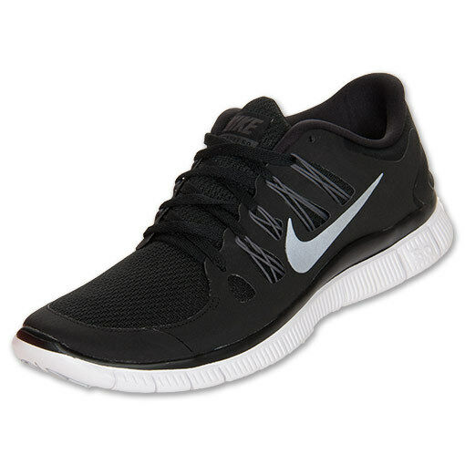81c028c23792 Details about Nike Free 5.0 Womens Size Running Shoes Black White Silver  Sneakers 580591 002