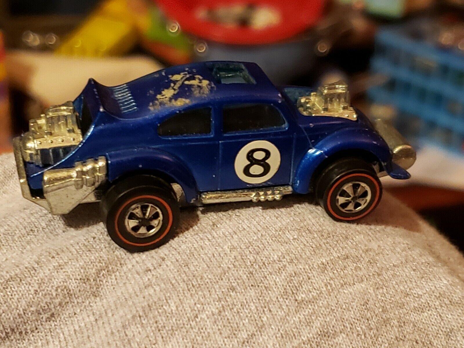 Vintage 1970 Mattel rotline Hot Wheels Blau Evil Weevil  Hong Kong