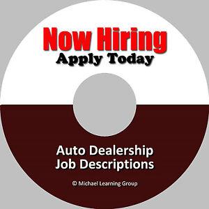 Auto-Sales-Training-46-Dealership-Job-Descriptions-eBook-on-CD