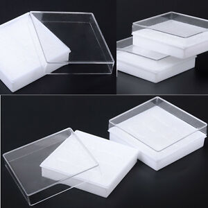 Lot Of 5pcs White Cotton Filled Boxes Jewelry Gift Boxes Bracelet