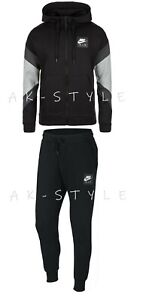 New-Mens-Nike-Air-Tracksuit-Full-Zip-Top-Bottoms-Fleece-Hoodie-Air-Print-Jogger