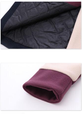 Kids Girls Patchwork Woolen Coat Casual Button Pocket Winter Parka Jacket Warm