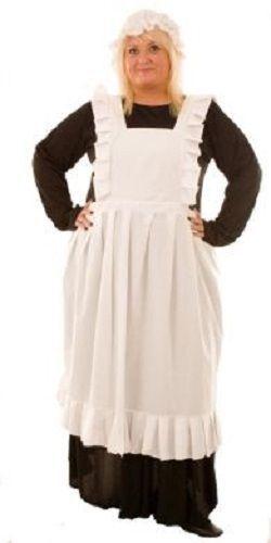 Victorian-Edwardian-Maid MRS BRIDGES Ladies Fancy Dress Costume ALL SIZES