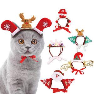 Weihnachtsdeko Hund.Hund Katze Weihnachtshut Weihnachtsmütze Kostüm Weihnachtsdeko