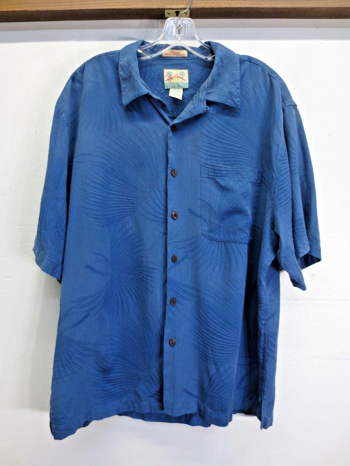 EUC Reyn Spooner Hawaiian Traditionals Hawaiian Shirt Silk Cotton Jacquard L