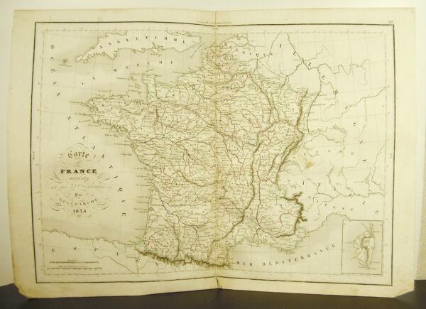 Der Frankreich Mittig Geteilt In Seine 32 Bundesländer Karte Antik 1838 Map 45cm Um Eine Hohe Bewunderung Zu Gewinnen Und Wird Im In- Und Ausland Weithin Vertraut.