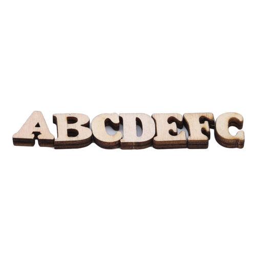 Alphabet Wood Letter Number Pattern Wooden DIY Photo Decor Self-Adhesive AL