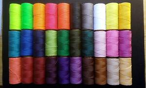 73b4eeeb4ec9 Details about 100 meter linhasita waxed thread for macrame quality 30  Colors to Choose- show original title