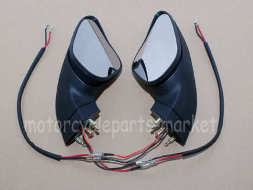 Rear View Mirrors For Ducati All Year 2007-2012 848 1098 1198 W// LEDs Pair Black