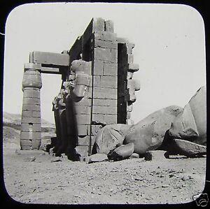 Glass-Magic-Lantern-Slide-THEBES-THE-RAMESUM-C1900-EGYPT-EGYPTIANS