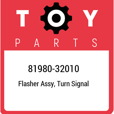Turn Signal Flasher Assembly Genuine Toyota 81980-32010