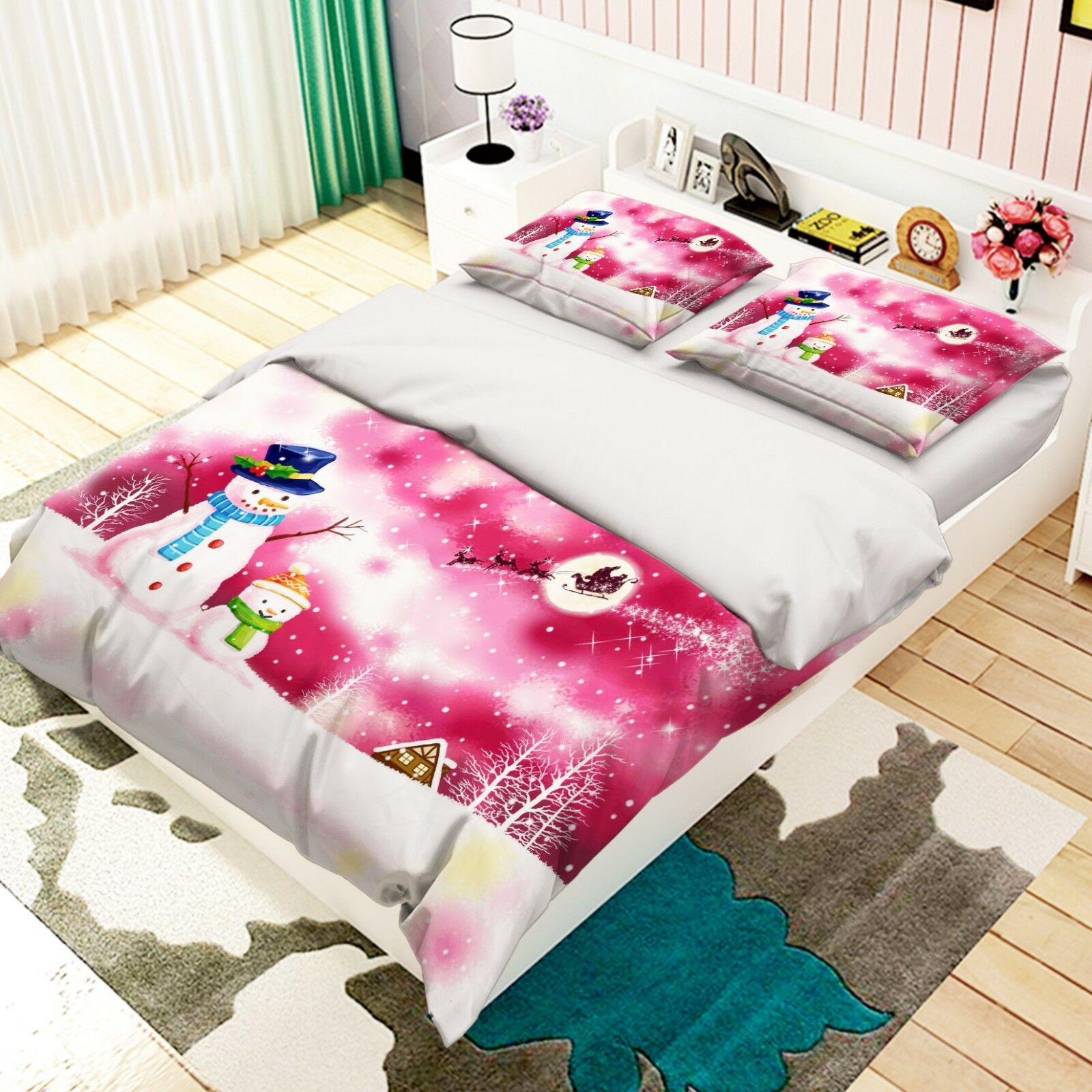 3D Snowhomme Tree 575 Bed PilFaiblecases Quilt Duvet Cover Set Single Queen AU voiturely