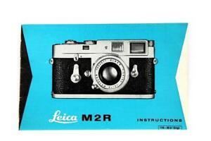 Excellent Leica M2R Instructions #P-1078