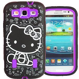 Hello-Kitty-Hybrid-Case-for-Samsung-Galaxy-S3-Purple-High-Impact-Cute-Bow-Cover
