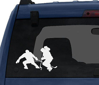 Hockey Silhouette Vinyl Wall Decal Player Varsity Professional League #7
