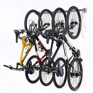 Monkey Bar Wall Bike Rack Mounts 4 Bikes Garage Vertical ...