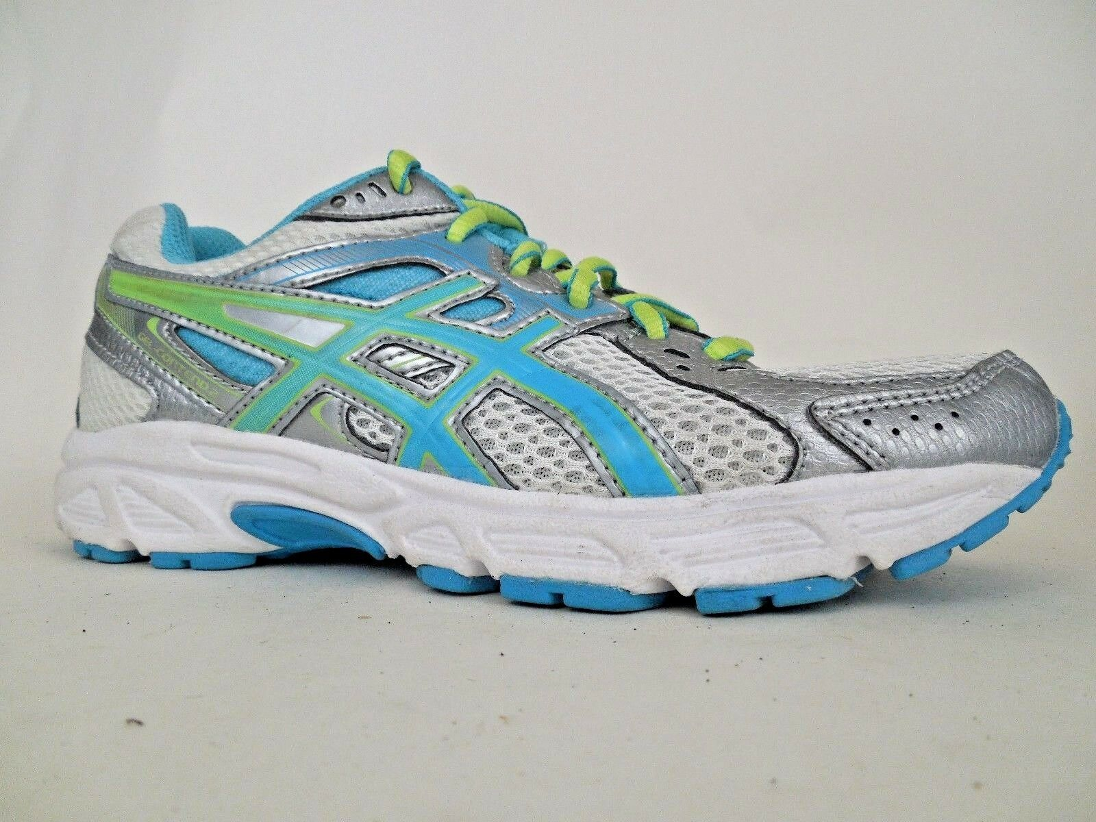 Asics Contend 2 Womens Running Cross Training shoes 5.5 M T474N silver Sneakers