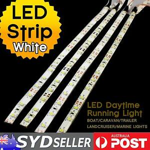 4x-50cm-30-LED-Strips-Light-3528-SMD-Bulbs-White-Car-Caravan-Van-Camping-DC-12V