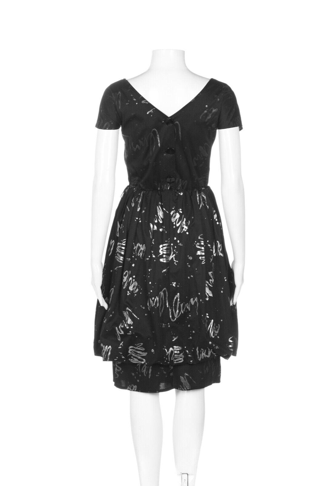 HANDMADE Balloon Dress Small Black Silver High Ne… - image 3