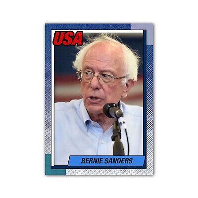 Bernie Sanders Art Novelty Custom 1987 Style Presidential Baseball Card Democrat