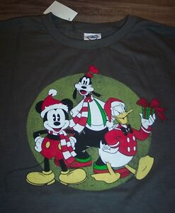 VINTAGE STYLE Disney MICKEY MOUSE DONALD DUCK GOOFY CHRISTMAS T ...