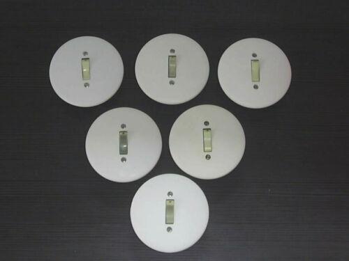 Alter Lichtschalter mit Leuchtwippe AE UP,Bakelit//Porzellan von Presto