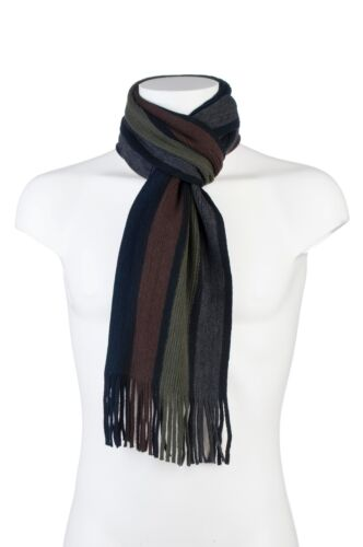 Mens Luxury Soft Winter Warm Striped Scarf Choose from 6 colours 1 no