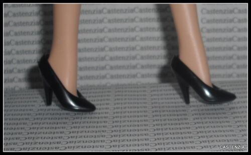 SHOES  BARBIE DOLL MATTEL  DONNA KARAN  BLACK HIGH HEEL PUMPS ACCESSORY ITEM