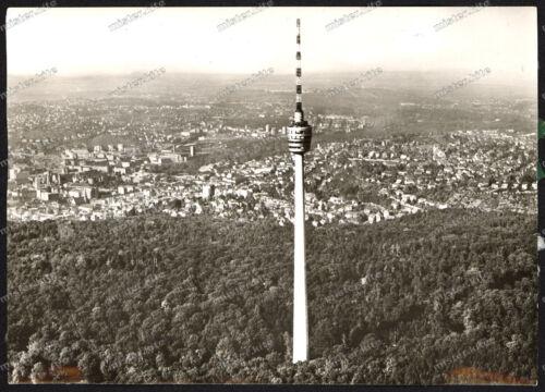 Foto-AK-Stuttgarter-Fernsehturm-Luftaufnahme-Fritz Leonhardt-Stuttgart