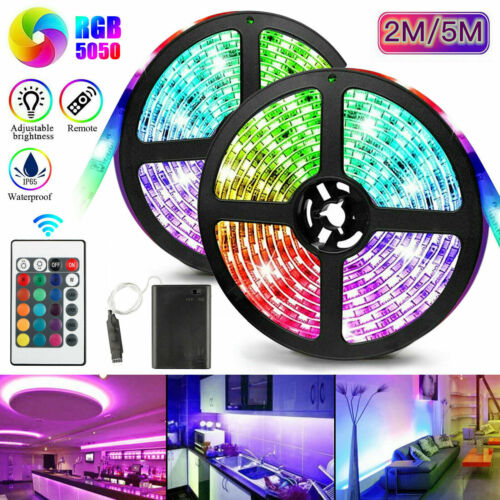 16FT 300 LED Flexible Strip Light SMD 5050 RGB Fairy Lights Room TV Party Bar US