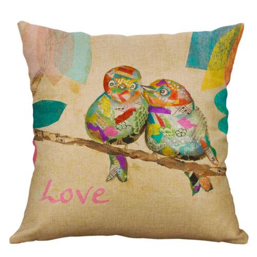 18/'/' Vintage Birds Cotton Linen Pillow Case Home Decor Pillow Cushion Cover