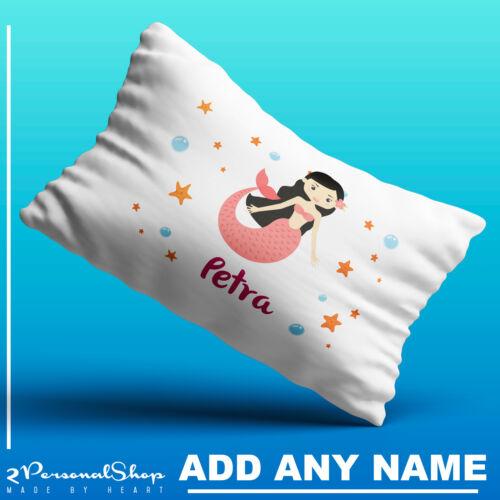 Personalised Children Mermaid Pillowcase Printed Gift Custom Made Print Kids