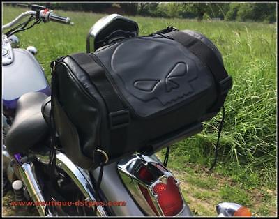 Sac Sacoche Sissy Bar Cuir Moto Custom