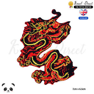 Dragon-Chinese-Dragon-Embroidered-Iron-On-Sew-On-Patch-Badge-For-Clothes-etc