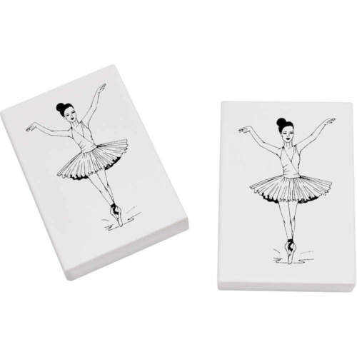2 x 45mm /'Ballerina/' Erasers ER00002044 Rubbers