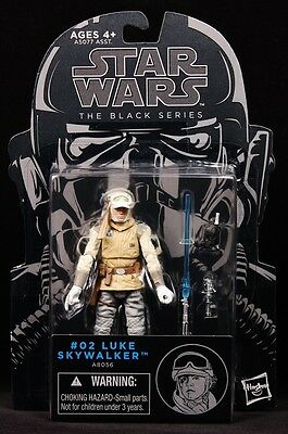 "2014 HASBRO STAR WARS BLACK SERIES WAVE 6 #2 HOTH LUKE SKYWALKER 4"" FIGURE MOC"
