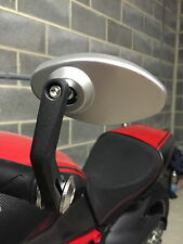 NEW Ducati Diavel Bar End Mirrors Black & Silver Oval Carbon Red Blue Stripe Etc