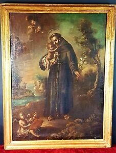 SAINT-ANTHONY-OF-PADUA-OIL-ON-CANVAS-SPAIN-XVII-XVIII