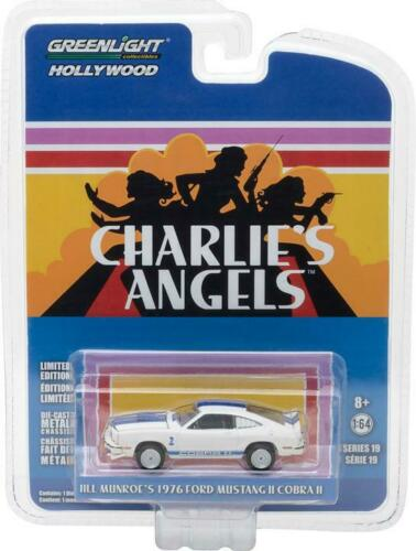 GreenLight 1//64 Hollywood Charlie/'s Angels 1976 Ford Mustang II Cobra II 44790-A