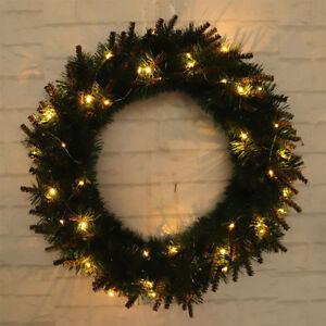 Image Is Loading Christmas Wreath Light Up Led Pre Lit