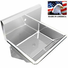 Industrial Single Wash Up Hand Sink Basin 24 Body Only 1 Hole On Center Lavabo