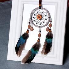 751C Handmade Dream Catcher Feather Wall Hanging Blue Bedroom Gift Dreamlike