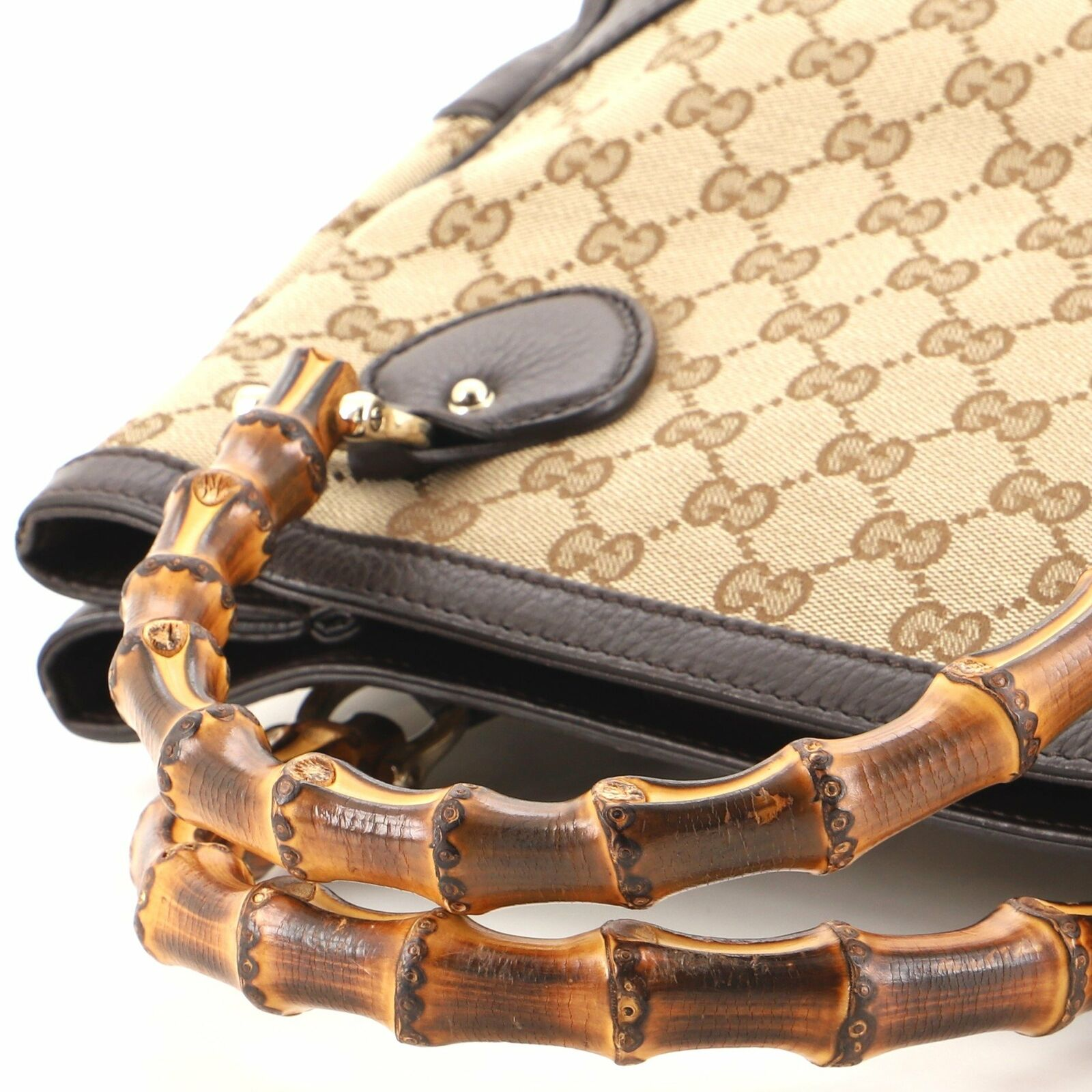 Gucci Diana Bamboo Top Handle Tote GG Canvas Small - image 7