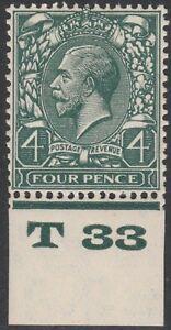 1924-BLOCK-CYPHER-SG424-4d-GREY-GREEN-CONTROL-T33-MINT-HINGED