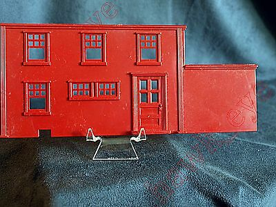 Plasticville Two Story House Red Pourch Support O-S Scale