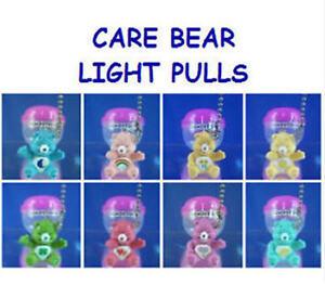 8-CARE-BEAR-MINI-FIGURE-LIGHT-LAMP-FAN-PULLS-KID-ROOM-QUICK-CONNECT-YOU-PICK-ONE