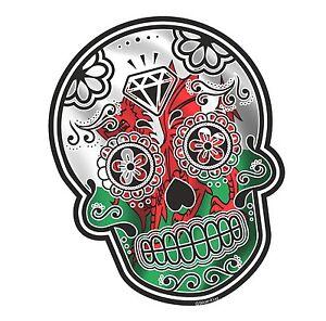 mexican day of the dead sugar skull welsh dragon wales cymru flag