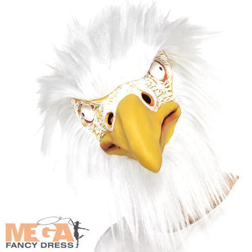 Maschera completa testa aquila Adulti Costume Animale Bird Hawk Costume Accessorio