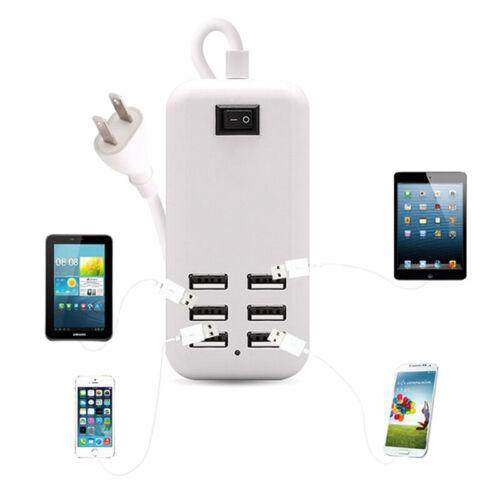 4//6 Port USB Hubs Desktop Travel Wall Charger Desktop Quick Charging Station